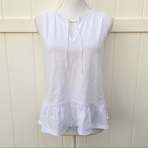 Abercrombie and Fitch white sleeveless top S